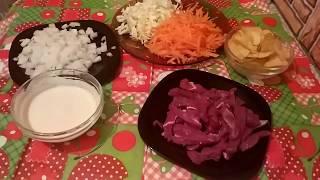 Диетический салатик с говядиной