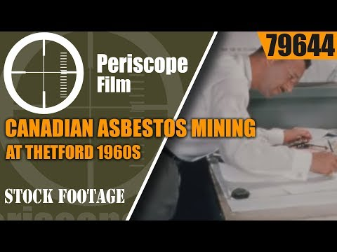 CANADIAN ASBESTOS MINING AT THETFORD 1960s PROMOTIONAL FILM  79644