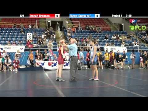 Junior WM 121 - Jennah Brennan (Massachusetts) vs. Alyssa Greenleaf (Michigan)