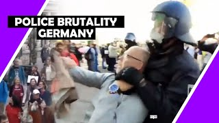 Shocking Police Brutality In Berlin Germany Lockdown Protests