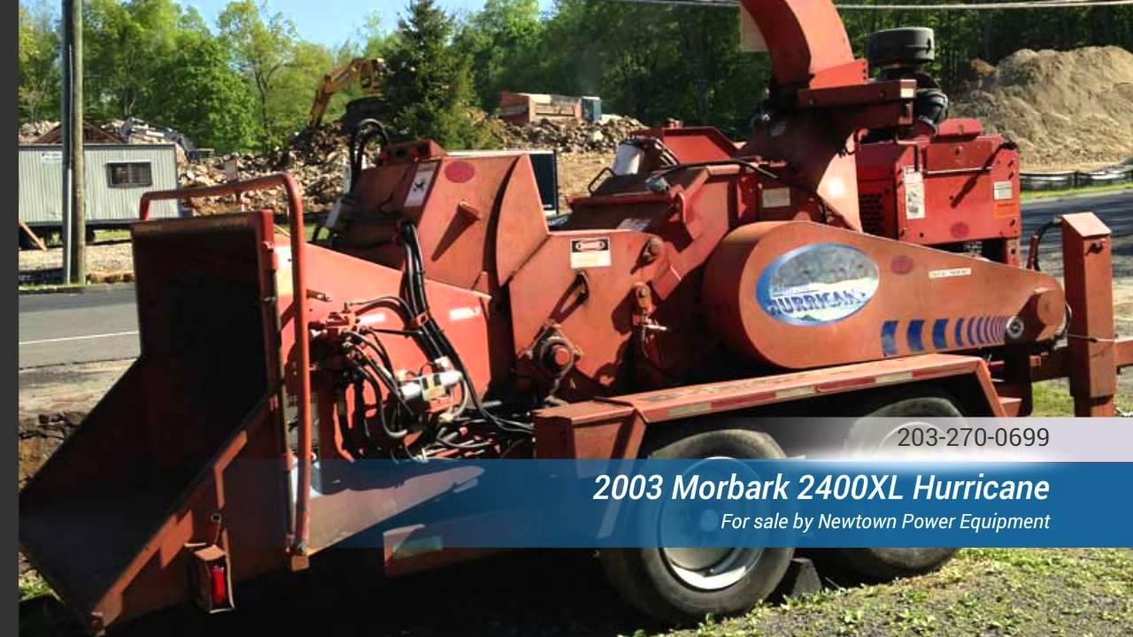 Morbark 2400xl Hurricane wood chipper by Newtown Power Equipment Connecticut