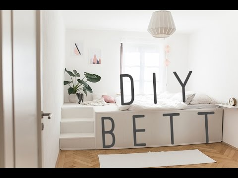 diy bed selfmade podest bed podest bett youtube. Black Bedroom Furniture Sets. Home Design Ideas