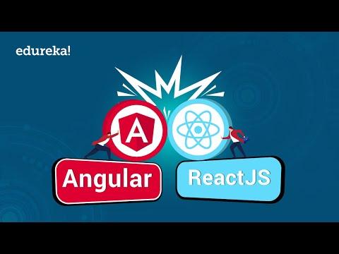 Angular Vs React In 2020   Differences Between React And Angular   Angular 8 Training   Edureka