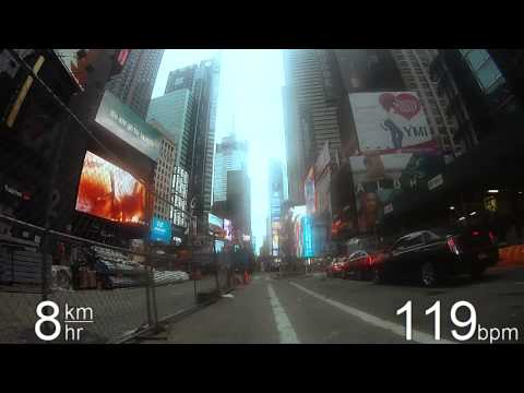 Biking in NYC - Columbus Ave, Broadway & 5th Ave