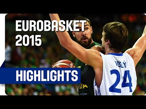 Czech Republic v Lithuania - Group D - Game Highlights - EuroBasket 2015