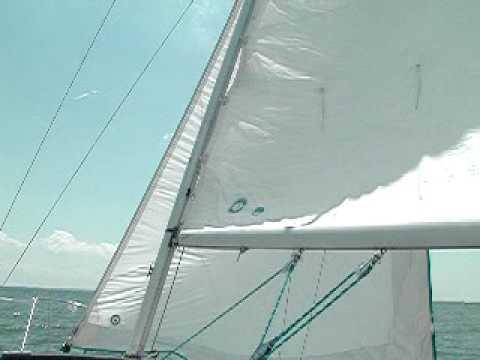 Sails full of wind.