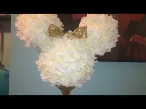 Diy Minnie Mouse Centerpiece | Dollar Tree & Joanns