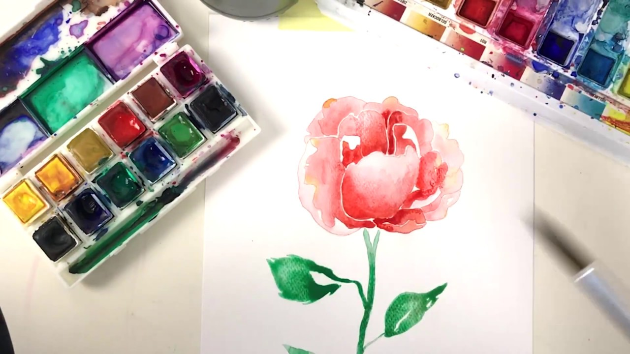 Rose Malen Modernes Aquarell Youtube