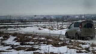 заводим Toyota FunCargo зимой в -25 с пусковым конденсатором