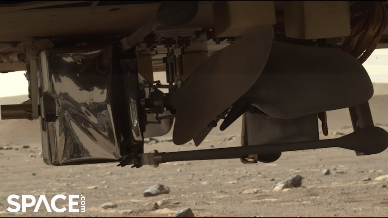 See a helicopter on Mars for first time! Perseverance drops Ingenuity's cover