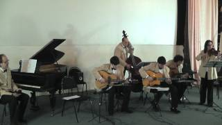 Nuages (Django Reinhardt). Ar. Le Quintette du Hot Club de France. Gypsy jazz manouche guitar