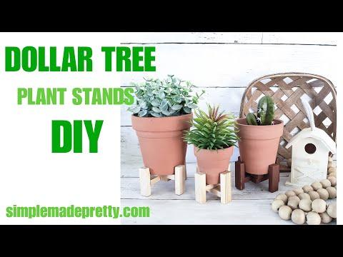 DOLLAR TREE Plant Stand - Dollar Tree Terracotta Pots - Dollar Tree Farmhouse Decor
