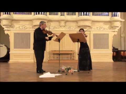 Leclair - Sonata VI for 2 violins (II, Allegro) Ioff & Kovalenko