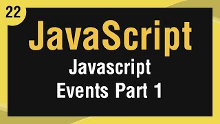 [ Learn JavaScript In Arabic ] #22 Events Part 1 - onload, onclick, ondblclick