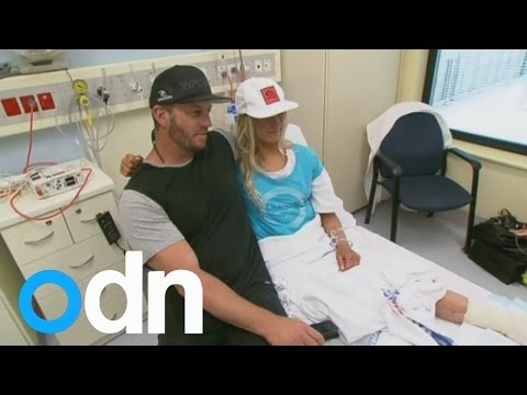 Girl's leg sliced open in shark attack at Avoca Beach, Australia