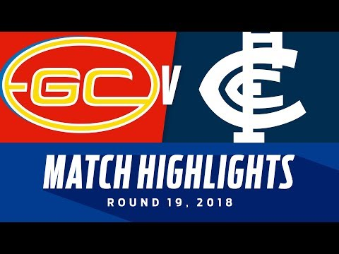 Gold Coast v Carlton Highlights | Round 19, 2018 | AFL