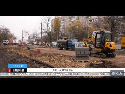 ТРК ВіККА: Для облаштування велодоріжки на черкаській вулиці викорчували алею