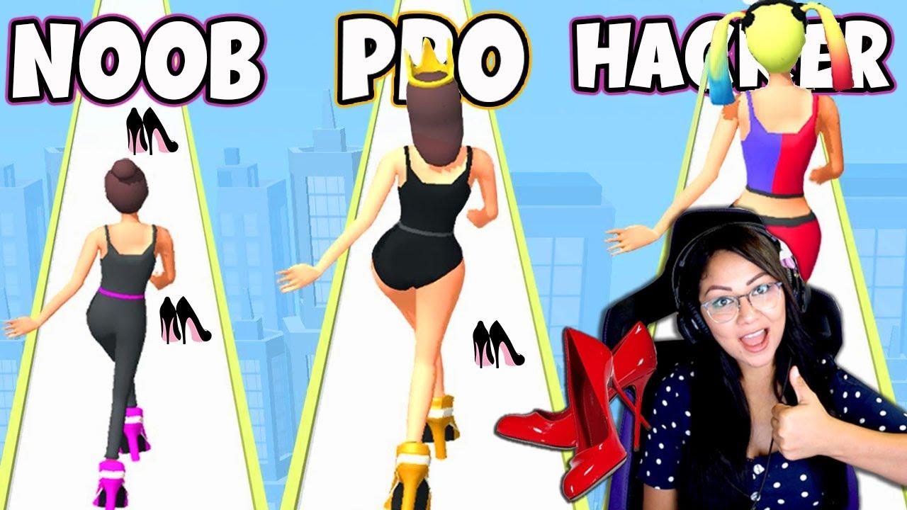 NOOB vs PRO vs HACKER en High Heels | SIMULADOR DE USAR TACONES | Kori