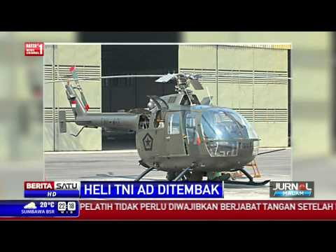 Heli TNI AD Ditembak Di Papua