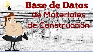 Base de Datos de Materiales de Construcción