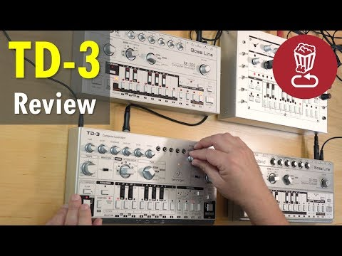 BEHRINGER TD-3 Review & tutorial // vs TB-303, RE-303 and x0xb0x (TD3-SR)