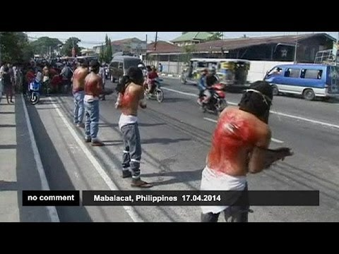 Self-flagellation during Holy week in Philippines - no comment
