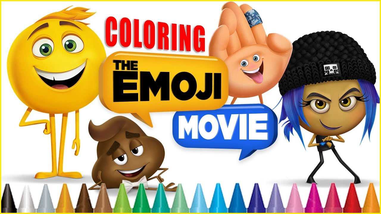 Hi 5 coloring pages - Emoji Movie Coloring Pages Emoji Coloring Book With Gene Jailbreak Hi 5 Poop Emoji