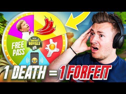 FORFEIT FORTNITE   1 DEATH = 1 FORFEIT