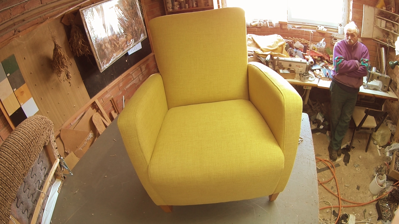 reupholstering an armchair youtube. Black Bedroom Furniture Sets. Home Design Ideas
