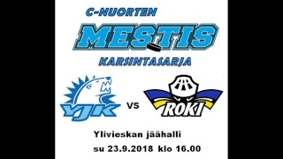 C-nuorten Mestis-karsinta YJK-RoKi 23.9.2018