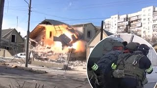 Download lagu Russian special forces completely destroy house during shoot-out