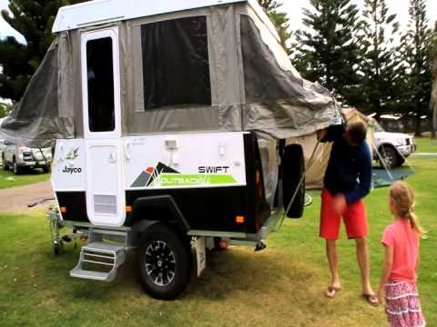 Setting Up Jayco Camper Trailer
