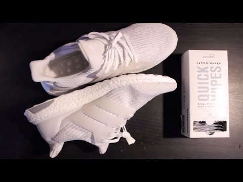 How to clean Triple White Ultraboost with Jason Mark Wipes