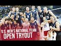 2018 U.S. Men's National Team Open Tryout | USA Volleyball