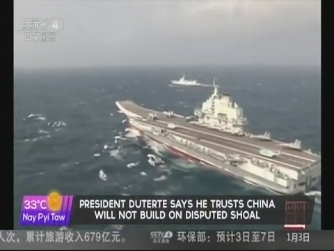 President Duterte says he trusts China will not build on disputed shoal