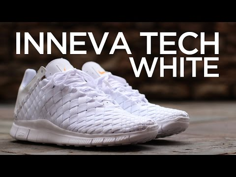 best service cdfb9 6932b Closer Look  Nike Free Inneva Woven Tech SP - White - YouTube