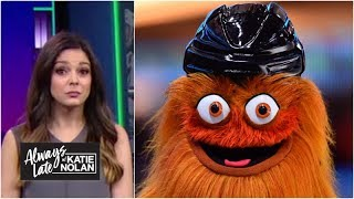 NHL mascots REALLY don't like how popular Gritty is | Always Late with Katie Nolan