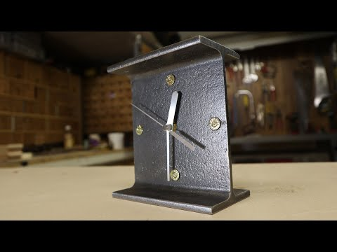 I make an Industrial Clock from a Rusty old RSJ Steel Beam. Industrial Decor I love it.