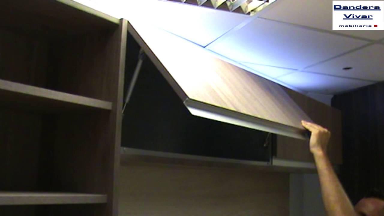 Tipos de aperturas de muebles altos en cocinas por bisagra for Muebles altos de cocina