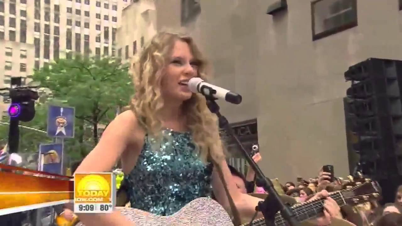 taylor swift our song live in new york hd youtube