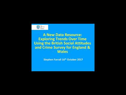 Webinar: A new data resource: Exploring trends over time using the British Social Attitudes Survey