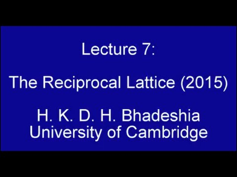 Reciprocal Lattice and Diffraction (2015)