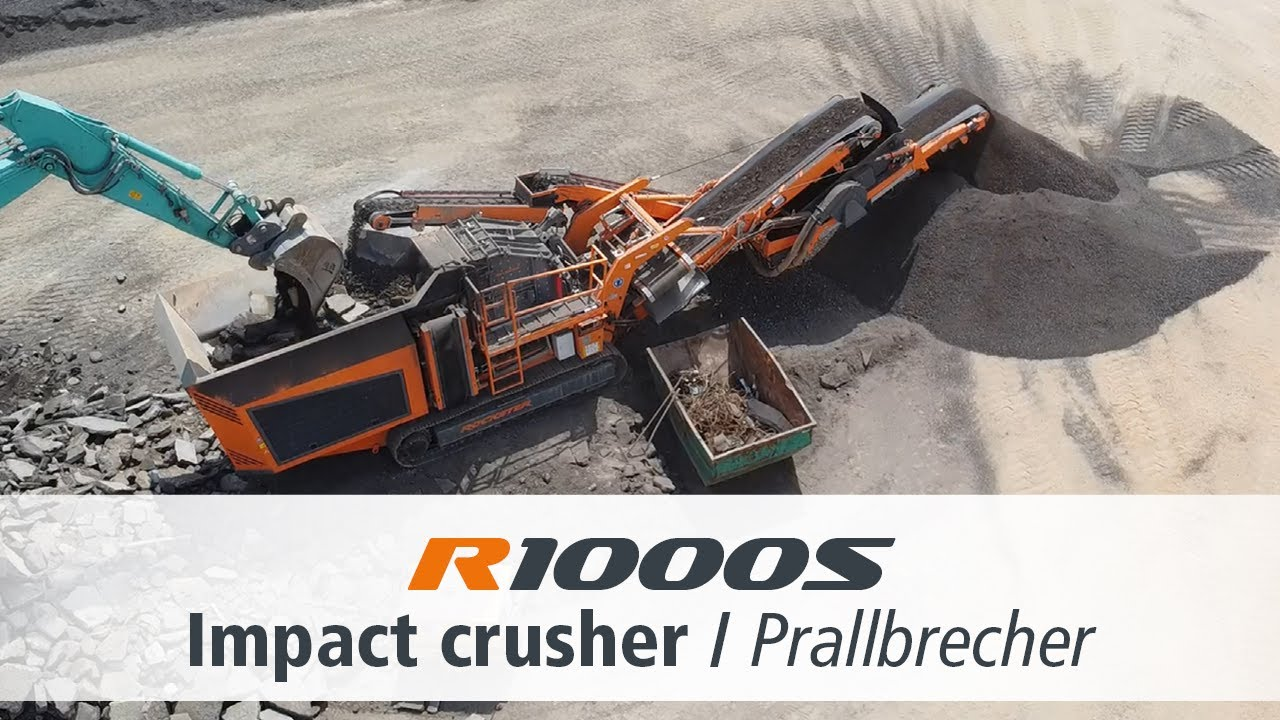 Rockster R1000S Closed Circuit Impact Crusher / Mobiler Prallbrecher / Asphalt recycling