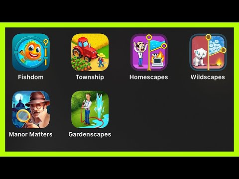 Fishdom,Township,Homescapes,Wildscapes,Manor Matters,Gardenscapes,Playrix Gameplay