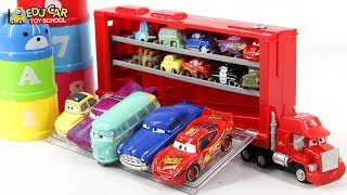 Learning Color Numbers Special Disney Pixar Cars Micro Lightning McQueen Mack Truck for kids car toy