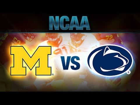2017 Michigan Wolverines vs Penn State Nittany Lions Simulation