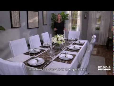 Dressing up your dining room table youtube for Dining table dressing