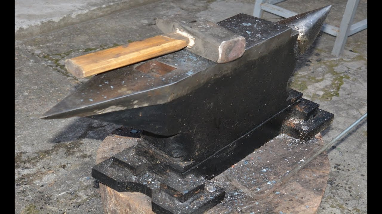 220lbs Blacksmiths Anvil from Scratch