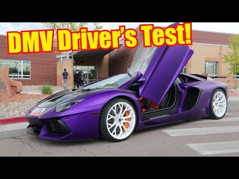 16 Year Old Takes DMV Drivers Test in Lamborghini Aventador