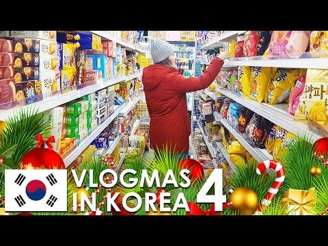 VLOGMAS IN KOREA 🇰🇷 🎄 #4 - Vegan food in our neighborhood, Korean Grocery Store Tour